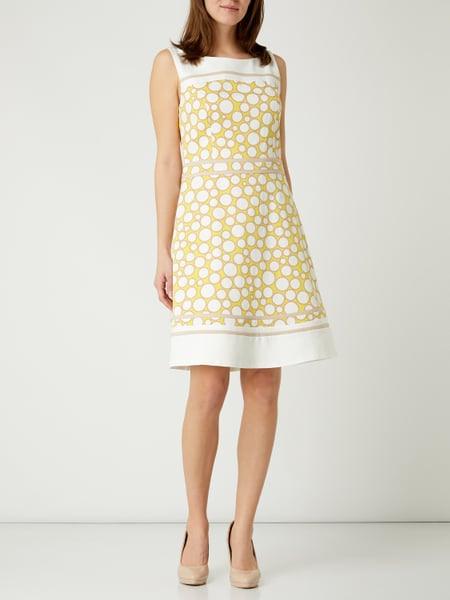 Soliver Black Label Kleid Mit Allovermuster In Weiß