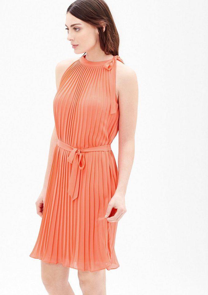 Soliver Black Label Plisseekleid Mit Schluppe  Modestil