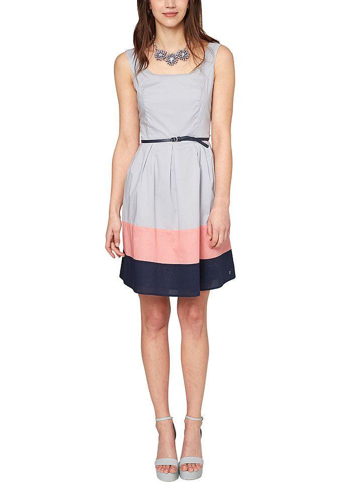 Soliver Kleid Angesagter Melangeeffekt Allover Online