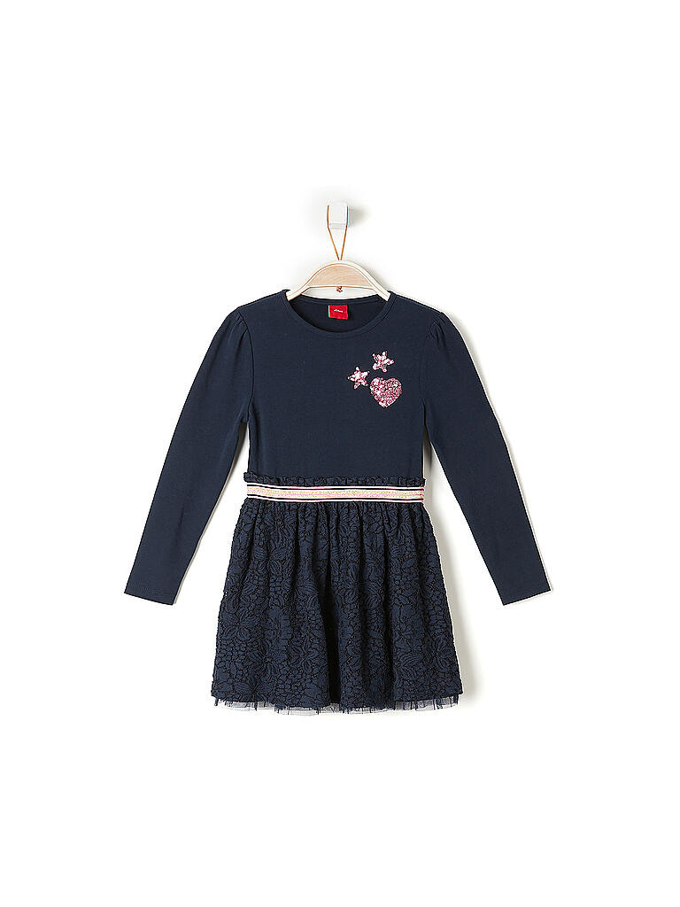 Soliver Mädchen Kleid Regular Blau  92
