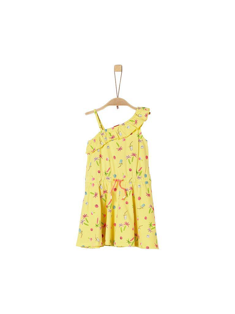 Soliver Mädchenkleid Regularfit Gelb  104