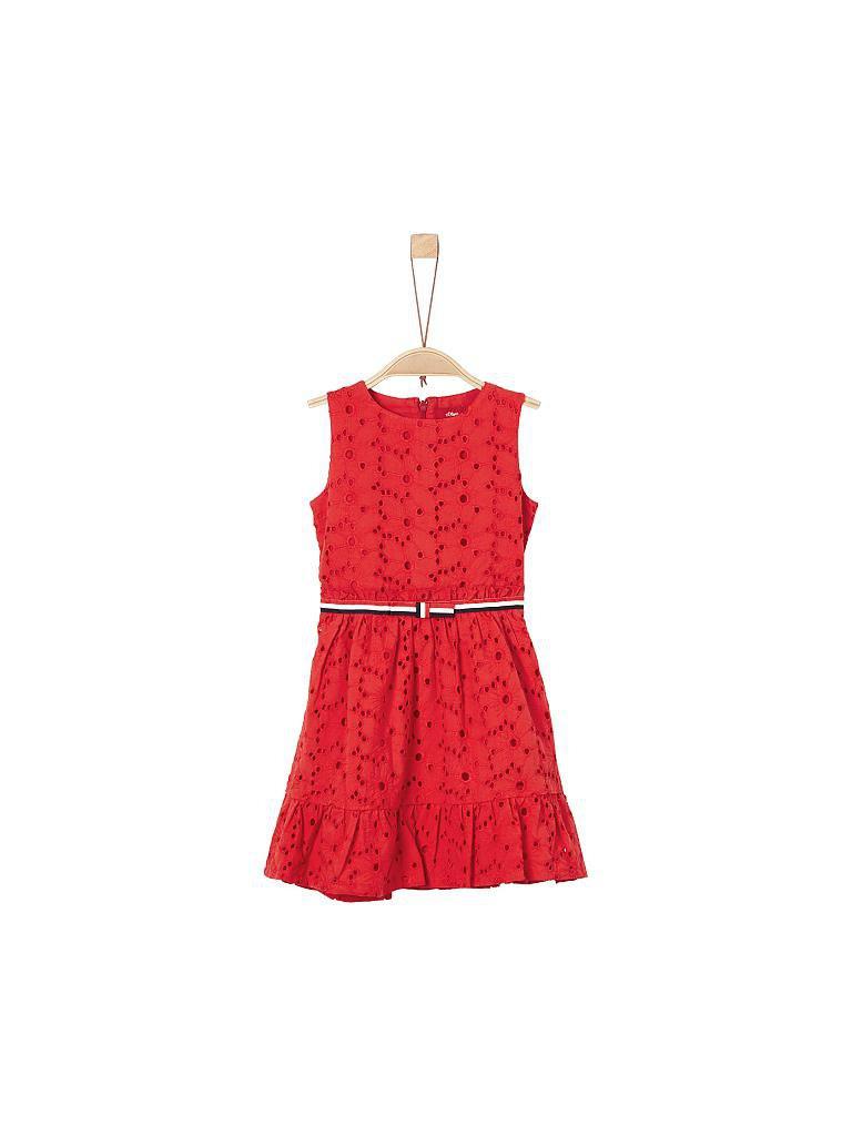 Soliver Mädchenkleid Regularfit Rot  92