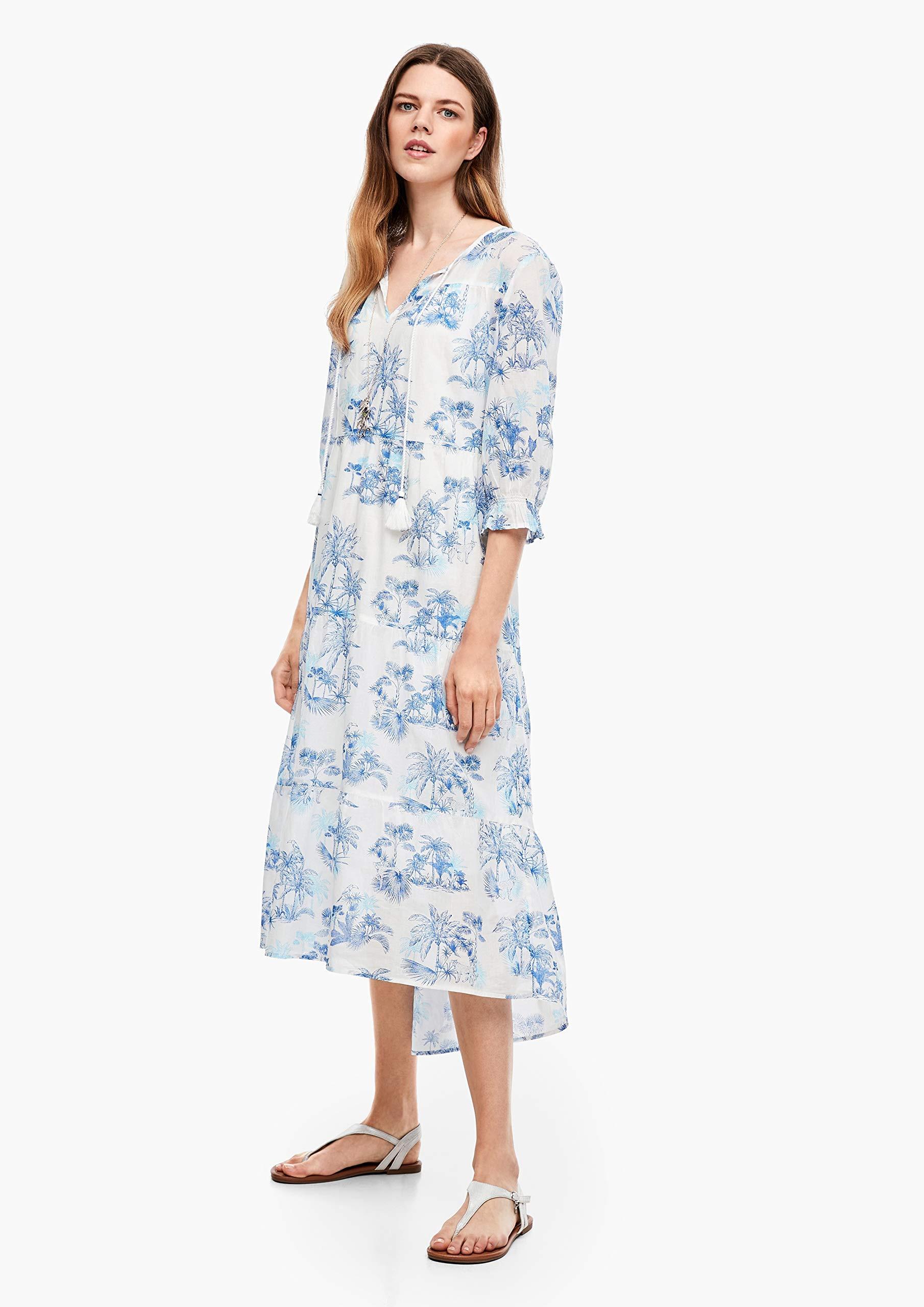 Soliver Maxikleider Frauen 2042121 Creme  Outfits24De