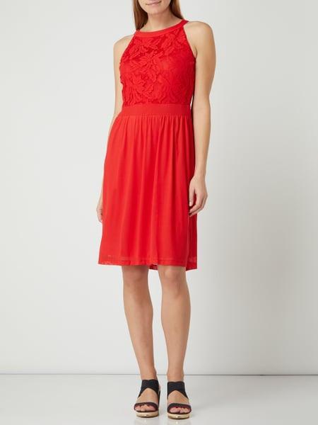 Soliver Red Label Kleid Mit Kontrastbesatz In Rot Online