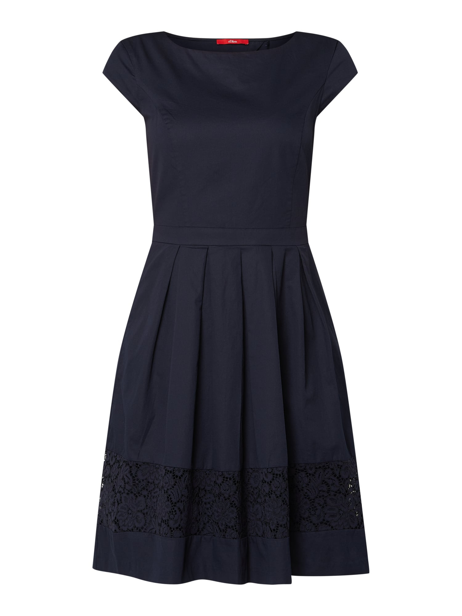 Soliver Red Label Kleid Mit Zierborte Aus Spitze In Blau