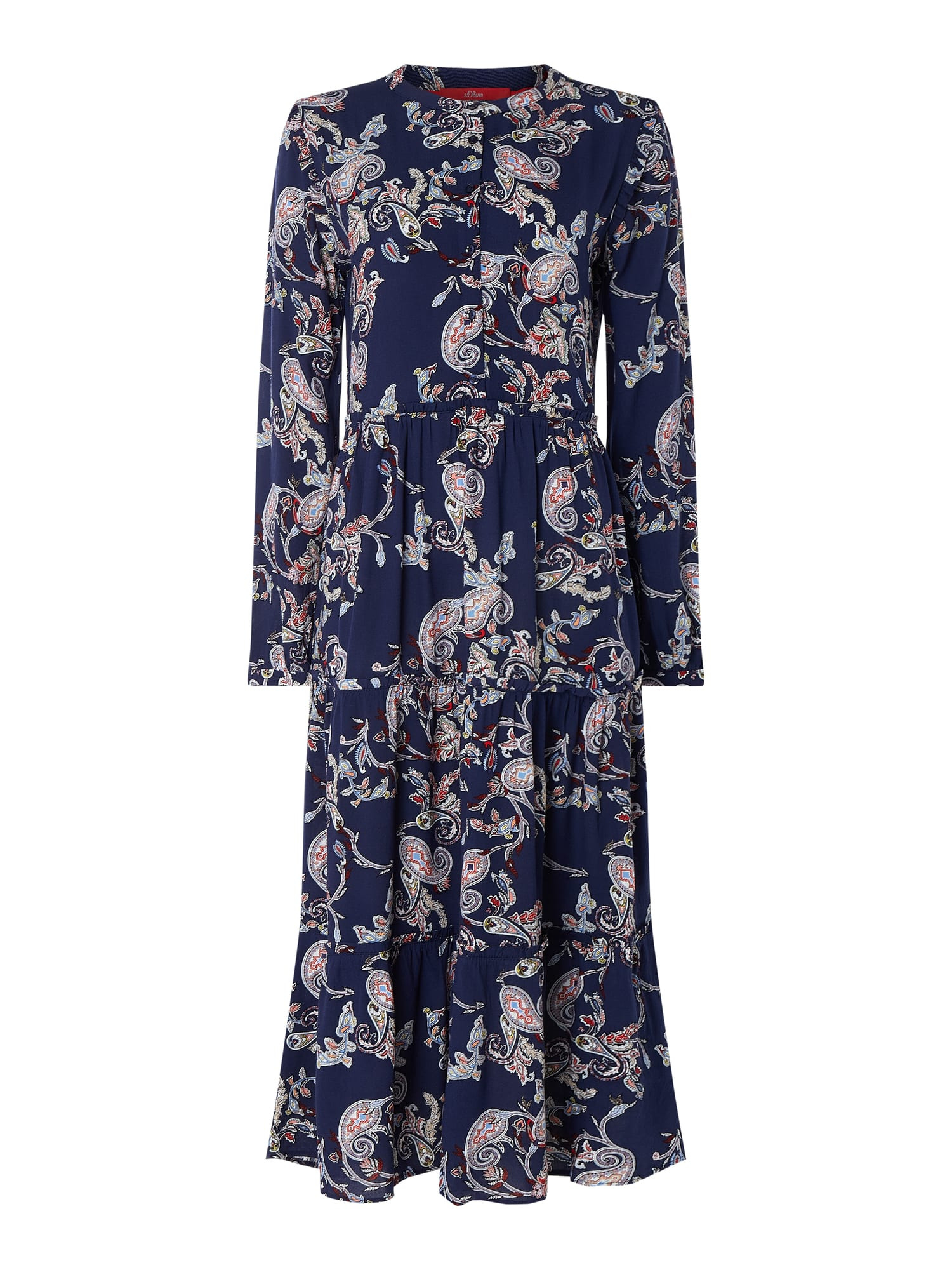 Soliver Red Label Maxikleid Mit Paisleymuster In Blau