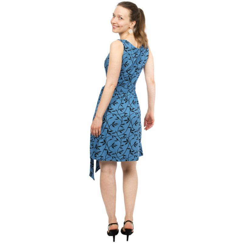 Sommer Umstands  Stillwickelkleid  Tessa In Blau