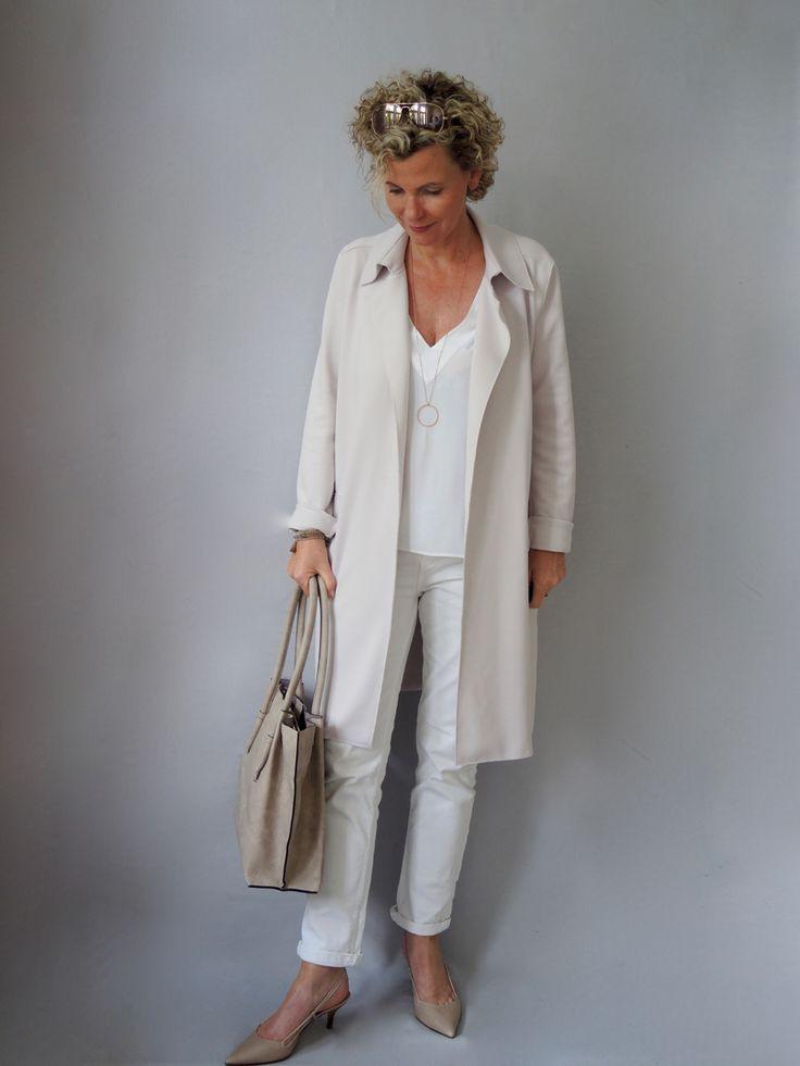 Sommerbeige Für Tasche Und Schuhe  Mature Woman  Fashion