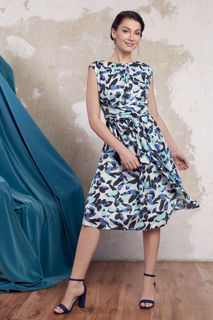 Sommerkleid Blau Weißes Kleid Festliches Kleid