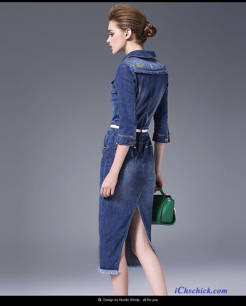Sommerkleid Damen Knielang Hellblau Online Kleider
