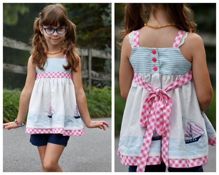 Sommerkleid Für Mädchen  Pdf Schnittmuster