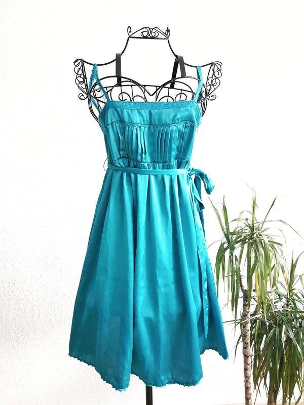 Sommerkleid In Türkis Von Mango  Sommerkleid Kleider