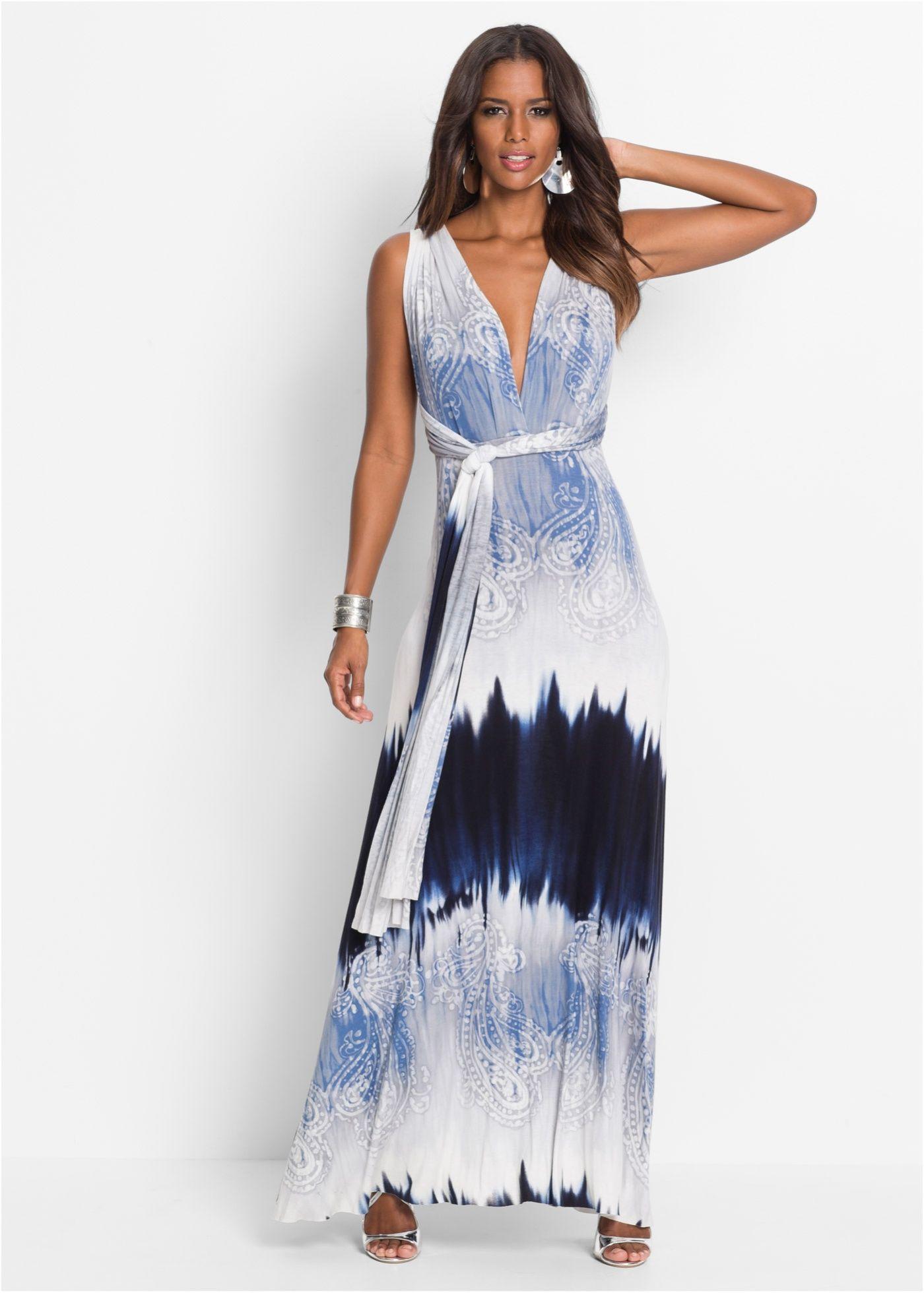 Sommerkleid Lang Blau  Bodyflirt Boutique Jetzt Im Online