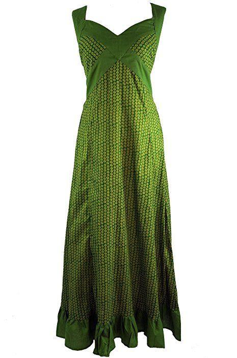 Sommerkleid Maxikleid Strandkleid Grün / Lange Kleider