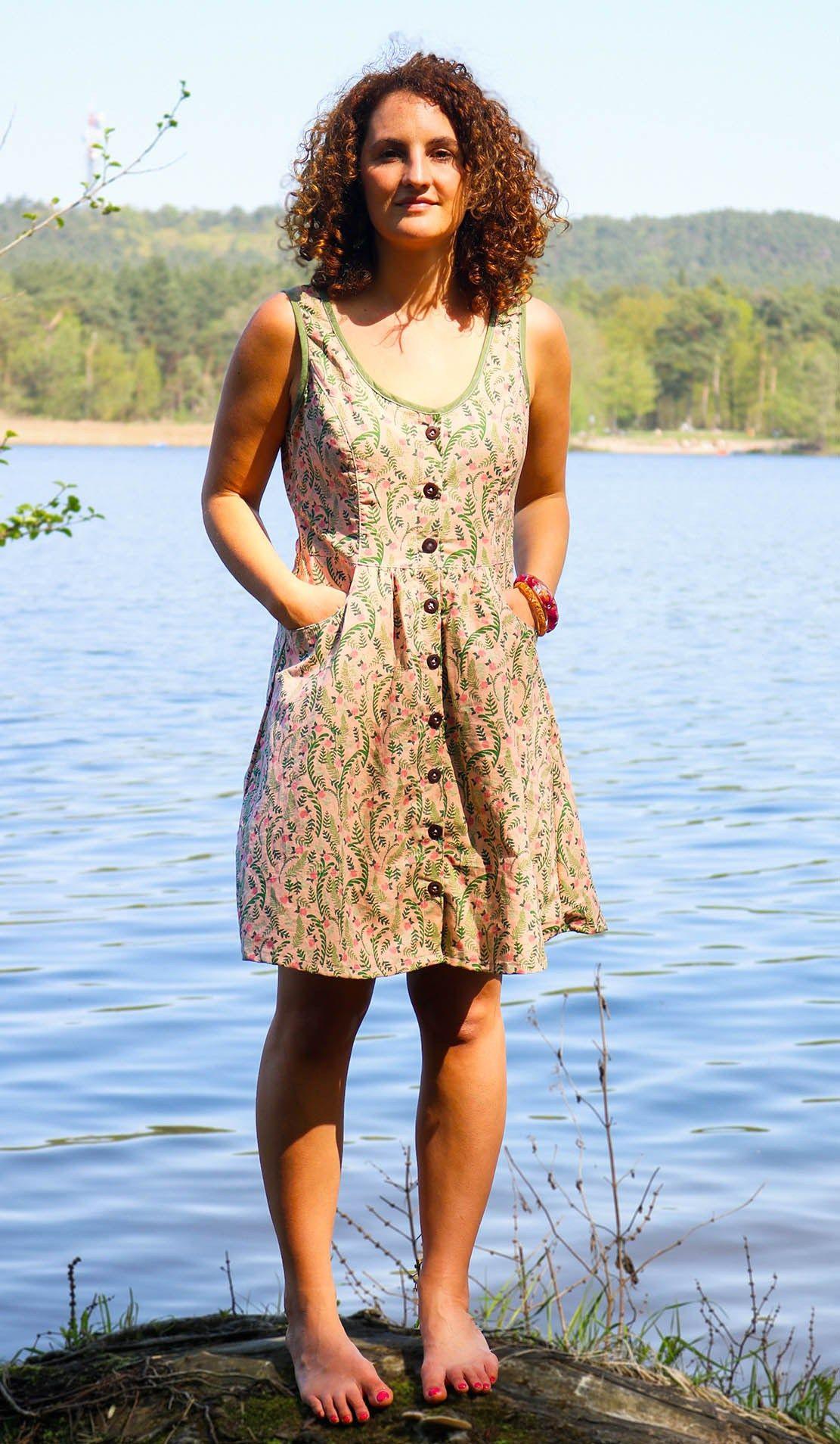 Sommerkleid Nähen  Schnittmuster Tuva Von Kreativlabor