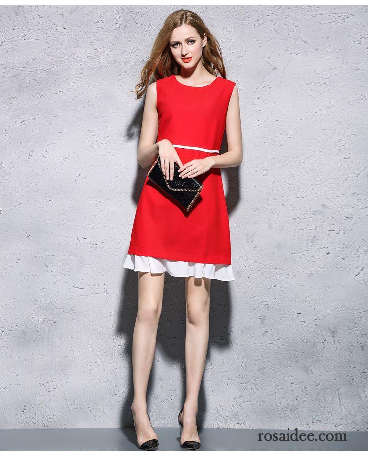 Sommerkleider Damen Kurz Entwurf Kleid Damen Weste Lotus