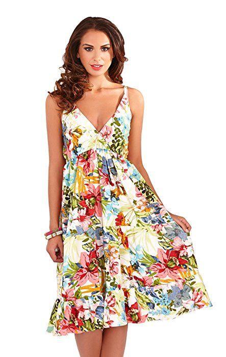 Sommerkleider Fashion Damenkleid Mit Kreuzform Mittlere