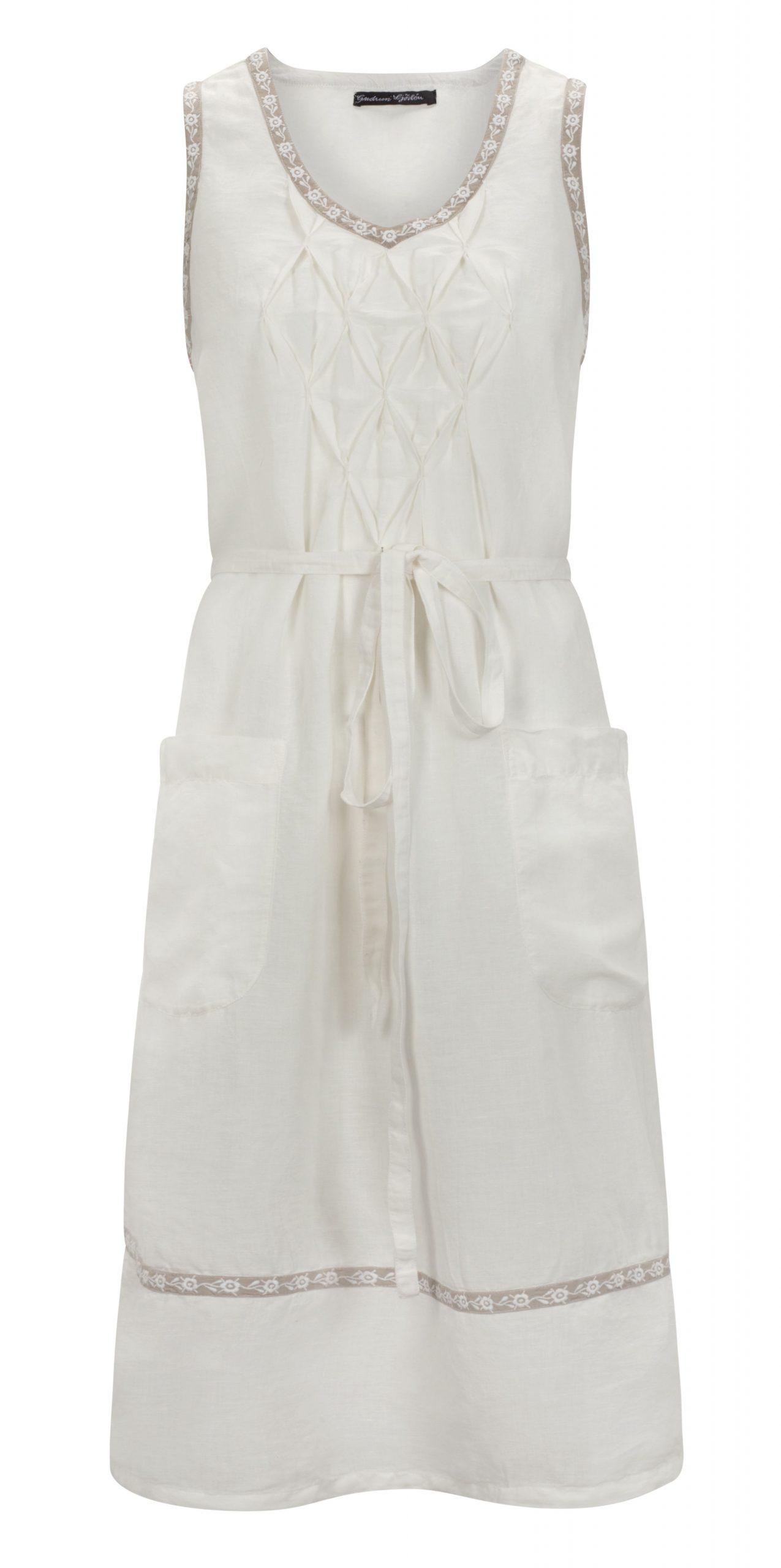 Sommermode 2013  Weißes Leinenkleid Das Sich Optimal