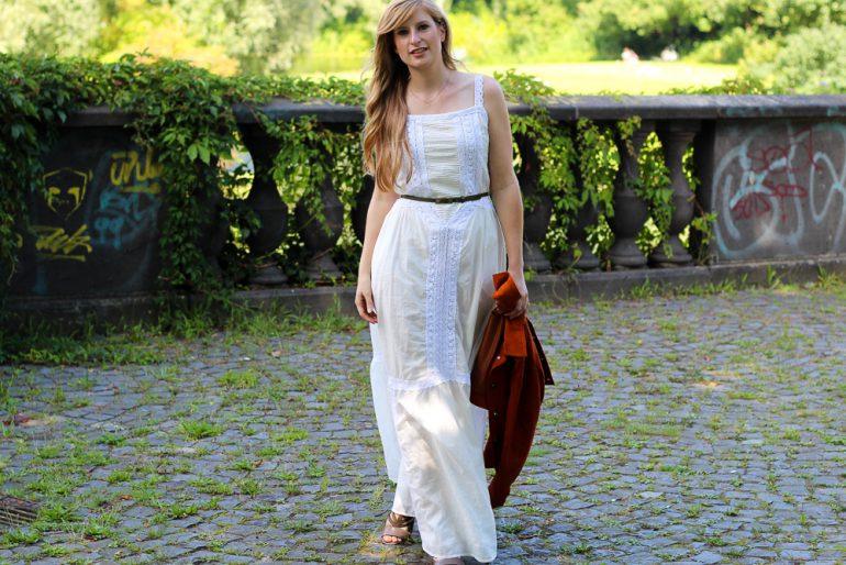 Sommermusthave Weißes Maxikleid  Modeblog Köln