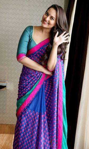 Sonakshi  Indische Outfits Indischer Stil Indische Sarees