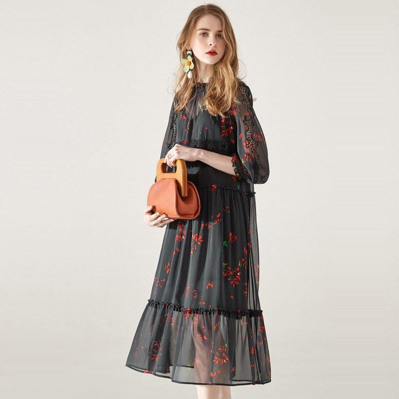 Sonderangebot Tcyeek Echt Silk Kleid Frauen Sommer Strand