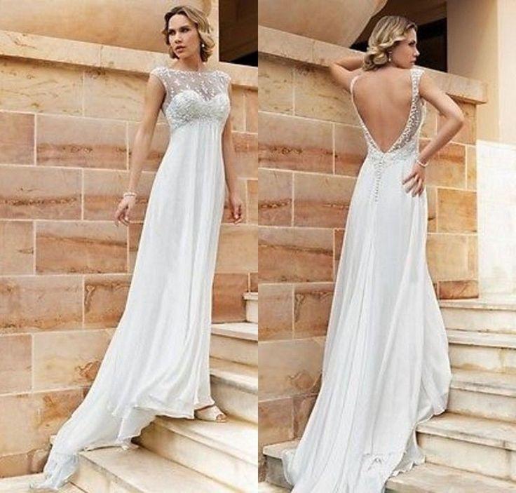Spitze  Chiffon Hochzeitskleid Abendkleid