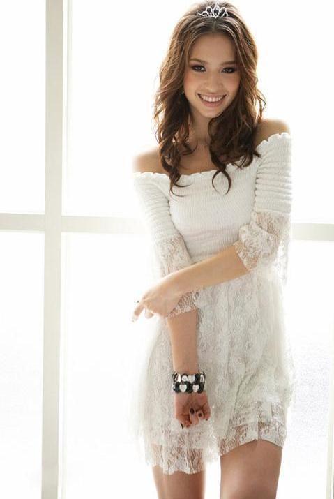 Spitzenkleid Weiß Kleid Spitze Romantic Kleid Vintage Boho