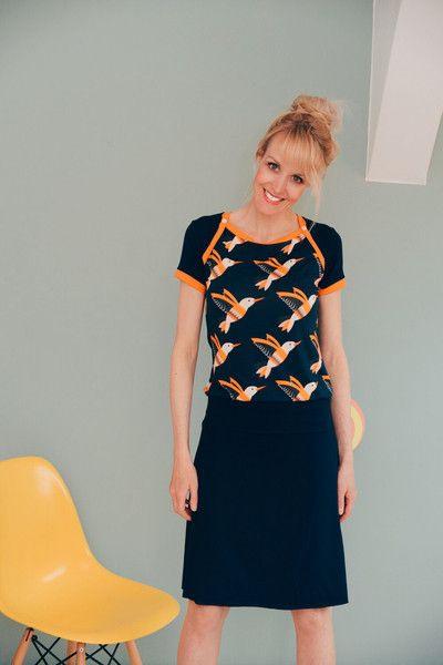 Sporty Kleid Kolibri Blau Retro Vogelkleid  Etsy