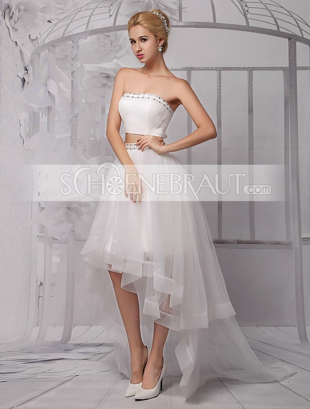 Standesamt Kleid Tüll Vorne Kurz Hinten Lang Tüll