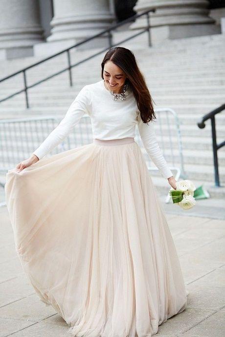 Standesamt Outfits  Hochzeitskleid Modern Brautkleid