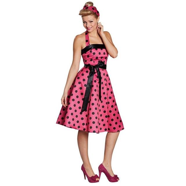 Starworld  50Er Jahre Kleid Pink/Schwarz Kostüm