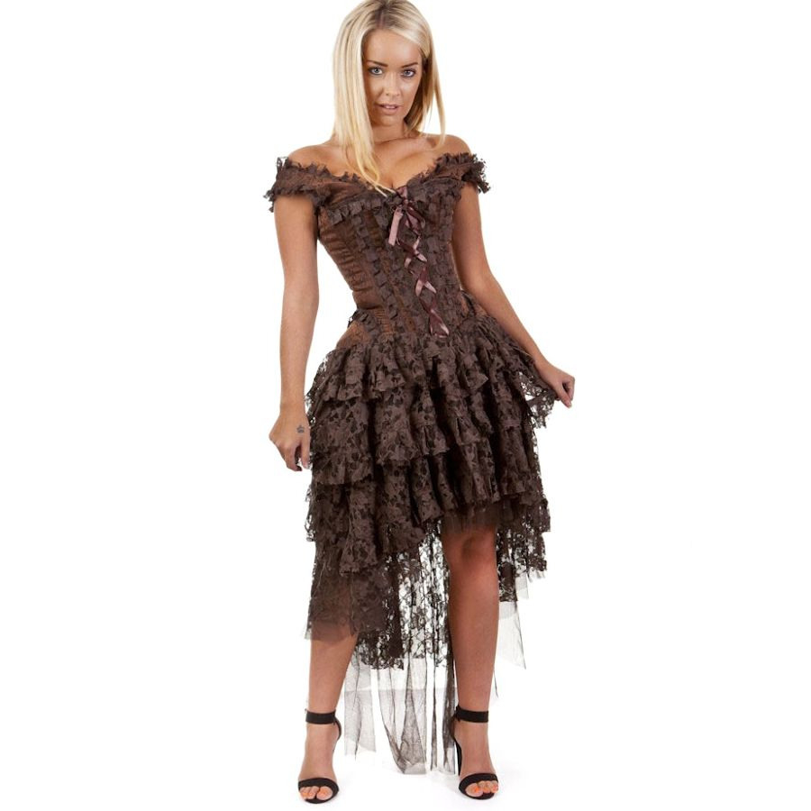 Steampunk Kleid Viktorianisch Mit Korsett  Ophelie Dress