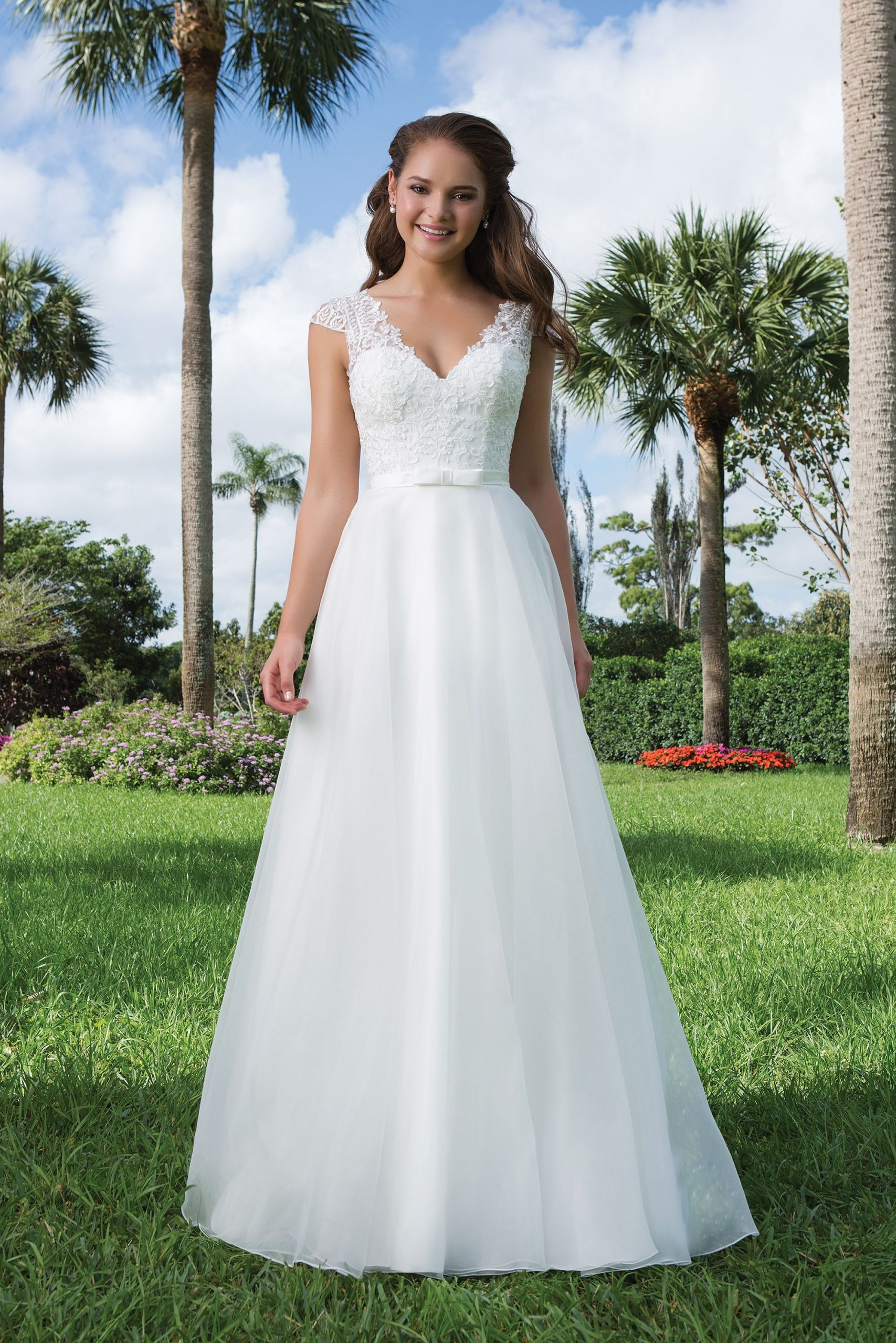 Stil 6107 Kleid Alinie Organza Mit Perlen Besetzte