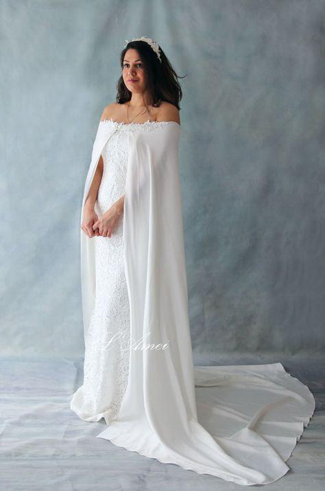 Straight Across Neckline Mermaid Lace Wedding Bridal Dress