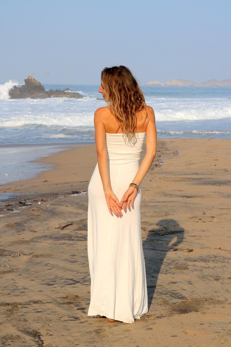 Strand Brautkleid Boho Brautkleid Boho Weiß Kleid Weißes