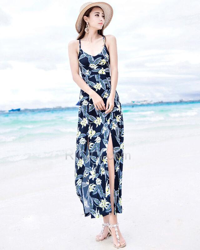 Strandkleidung Kleider Swing Sommer Chiffon Casual Kleider