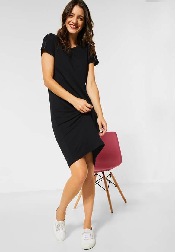 Street One  Jerseykleid Mit Nietendetail  Farbe Black