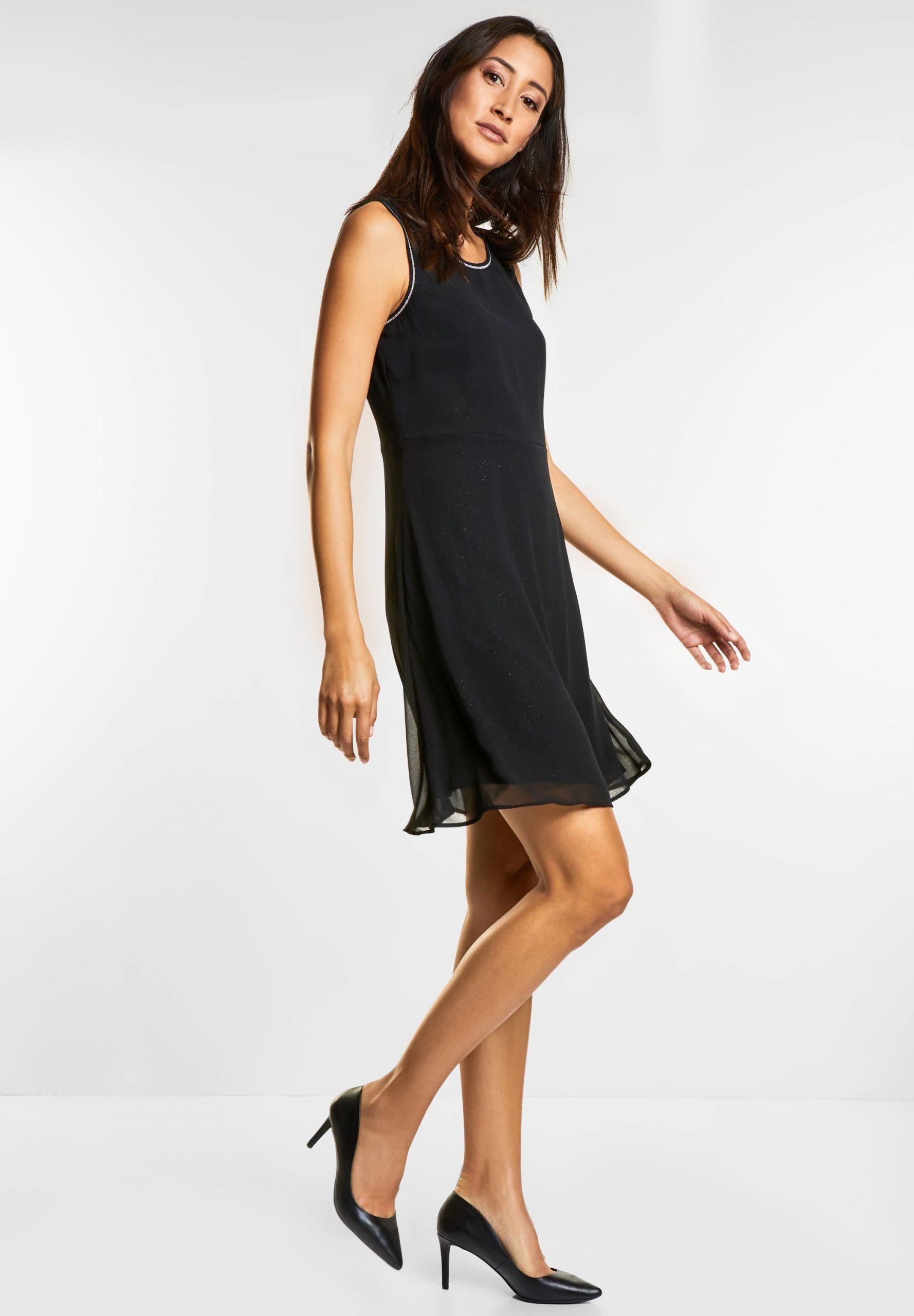 Street One  Kleid Mit Glitzereffekt In Black Reduziert