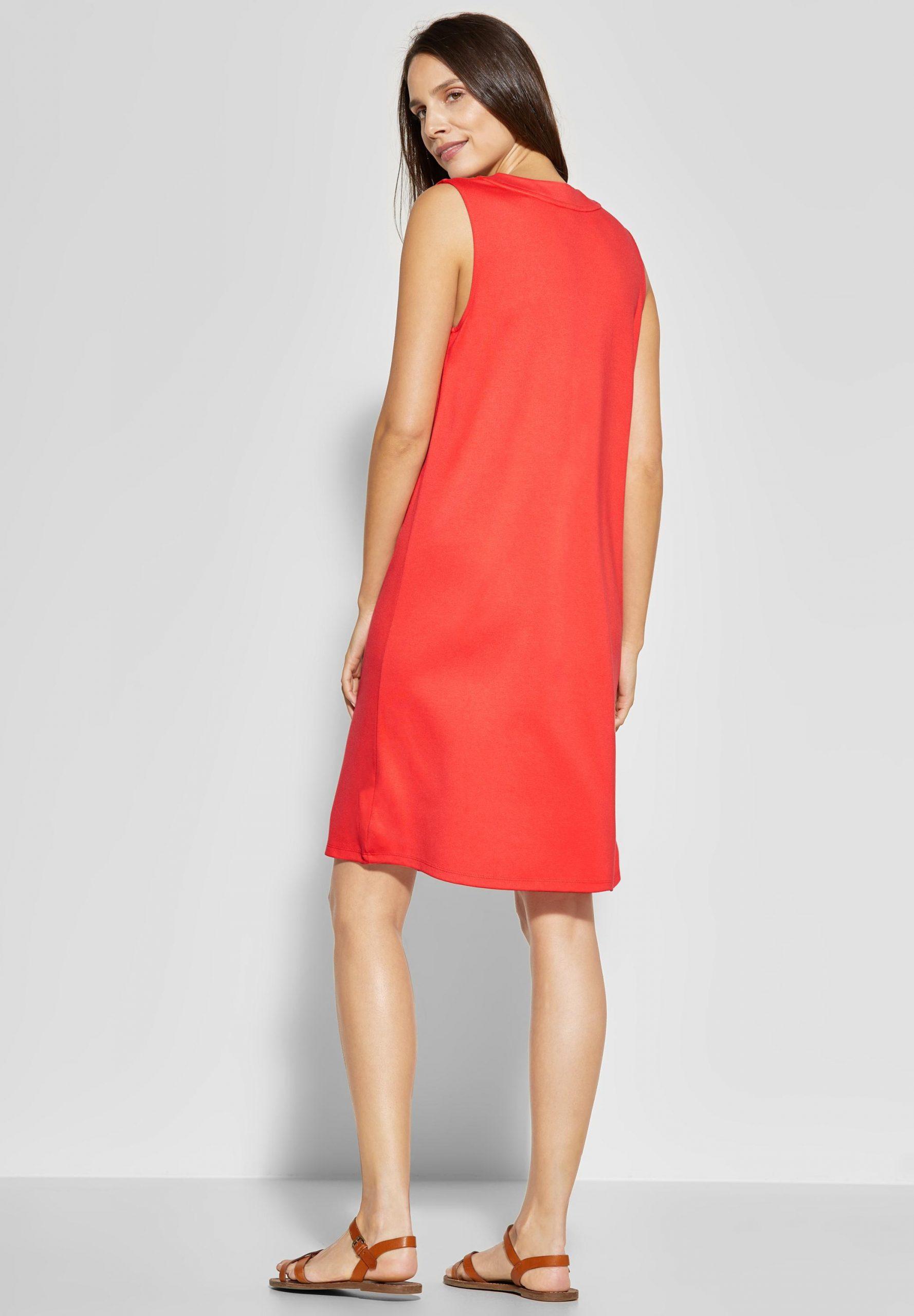 Street One  Kleid Mit Vneck In Bright Coral Reduziert Im