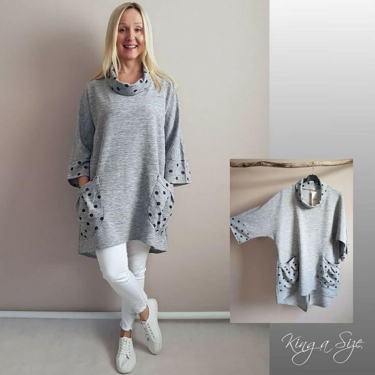 Strickkleid Kleid Pullover Mit Taschen Oversize Gr46  48