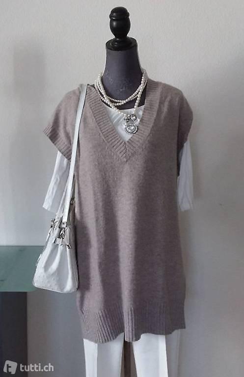Strickkleid M Oversize Pullover Winterkleid Wolle/Alpaca