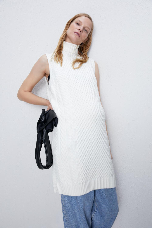 Strickkleid Mit Zopfmuster  Zara Deutschland  Knit Dress