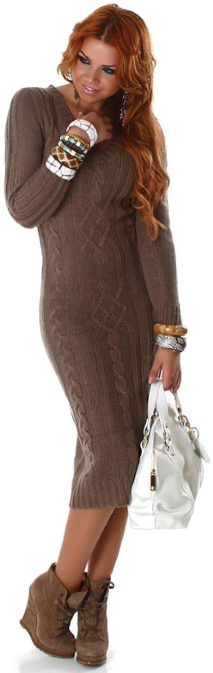 Strickkleider Damen Winter