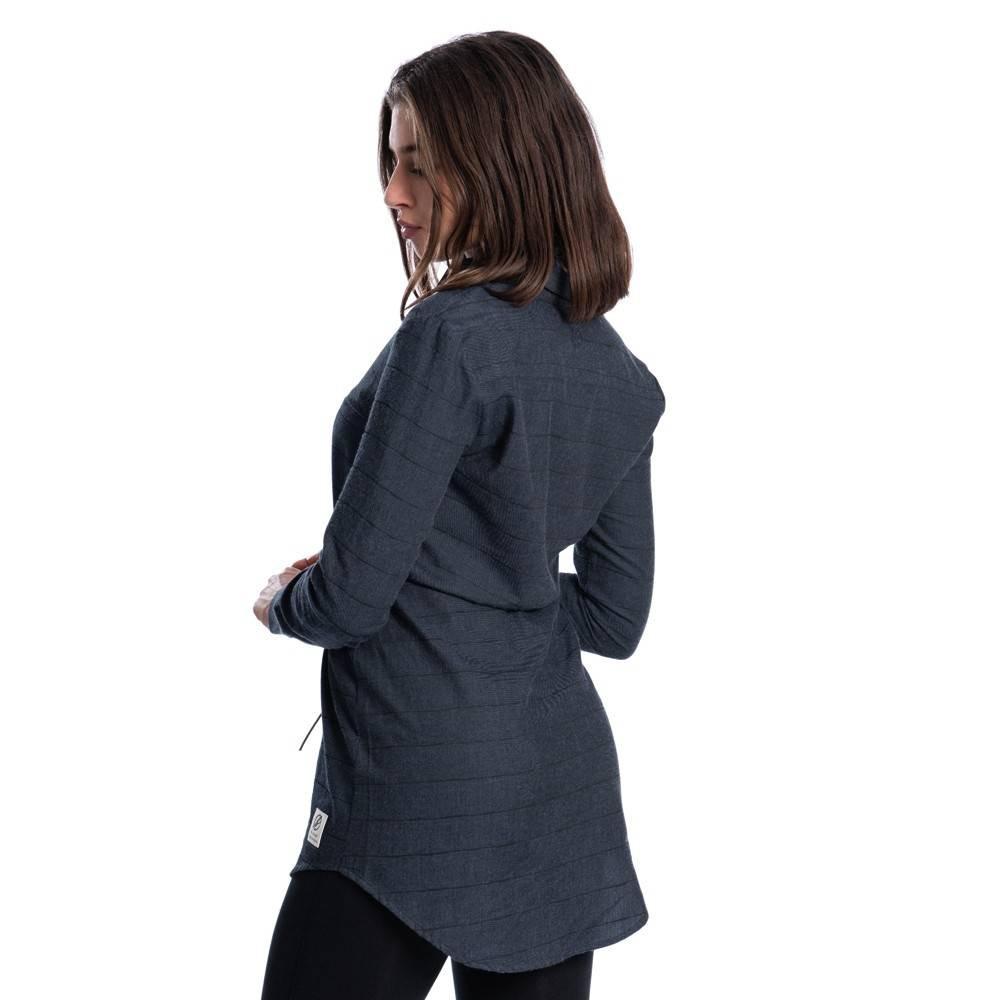 Striped Flanell Hemdkleid Damen  Bleed