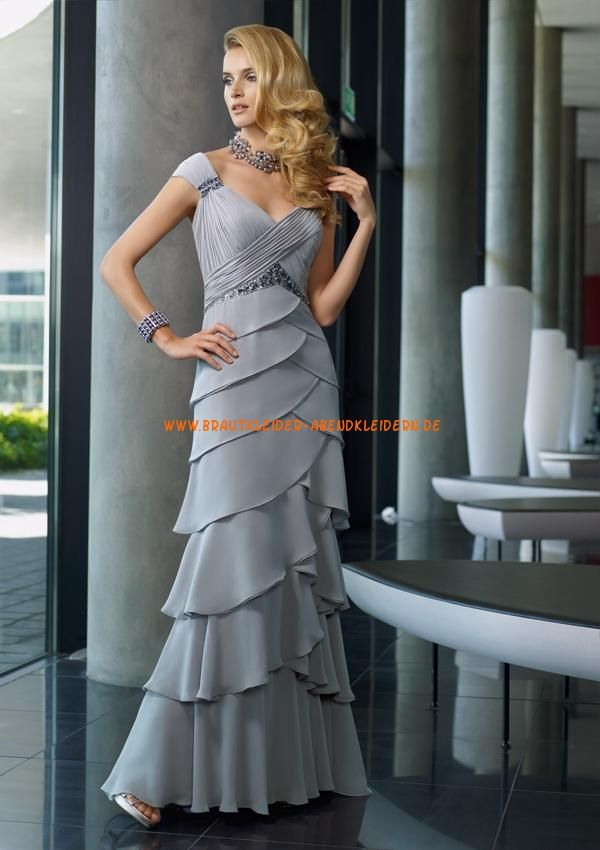 Style 70504 Chiffon  Langes Abendkleid Hochzeitsfeier