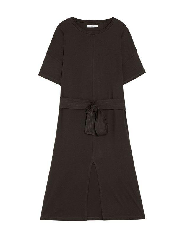 Sukienka Basic Z Paskiem  Sukienki  Odzież  Dla Niej