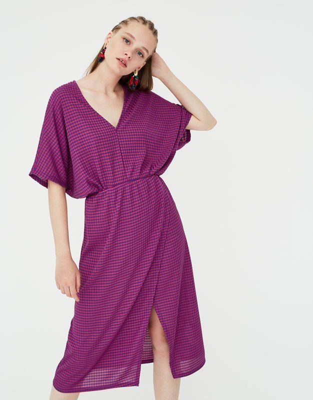 Sukienka W Paski Z Dekoltem W Serek  Pullbear  Dresses