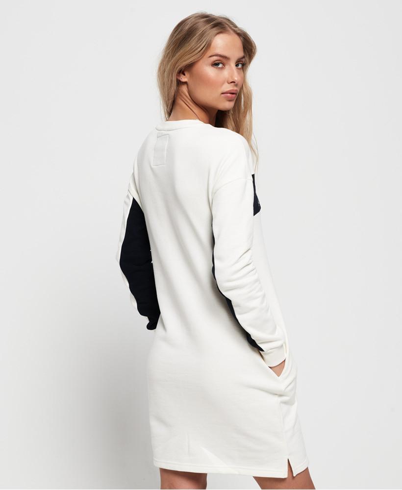 Superdry Damen Sweatkleid Mit Grafikeinsatz  Ebay