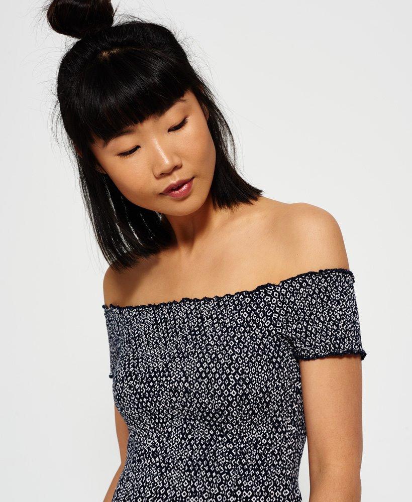 Superdry Gesmoktes Kleid  Damen Kleider