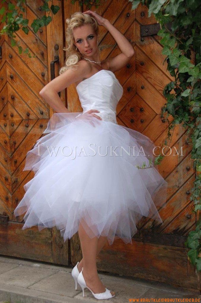 Süße Traumhafte Designer Kurze Brautkleider  Brautkleid